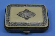 Victorian Napoleon 111 French ladies purse pierced silver mounted silk interior