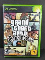 Grand Theft Auto San Andreas (Original Microsoft Xbox, 2005) game and case