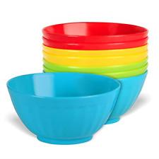Set of 8 Plastic Bowls-28 oz Large Plastic Cereal Microwave Dishwasher Safe Soup