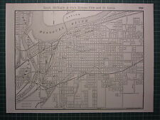 1890 Ciudad map/plan Kansas City & St Louis depósito ferroviario ~ Excelente Estado ~