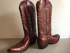 272639029289 Johnny Ringo Brown Western Handmade Pointed toe Boots Womens size 7 B