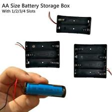 Battery Holder Box Storage Case open/closed switch 4x 3x 2x 1x Cells
