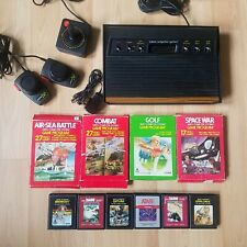 Atari 2600 Woody 6 Switch 10 Games VCS Console Joystick & Paddles Tested