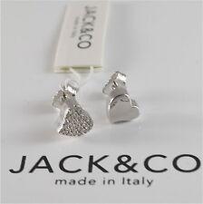 ORECCHINI IN ARGENTO 925 JACK&CO CON CUORE LOVE CON ZIRCONIA CUBICA JCE0454