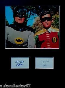 BATMAN signed autographs PHOTO DISPLAY Adam West Burt Ward