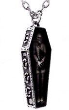 NWT Nosferatu's Rest Vampire Pewter Coffin Pendant Necklace Alchemy Gothic P183