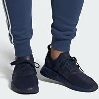 adidas Originals NMD R1 Collegiate Navy Men's Shoes Lifestyle Comfy Sneakers