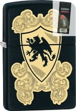 Zippo 28793 Royal Griffin Shield Black Matte Full Size Lighter + FLINT PACK