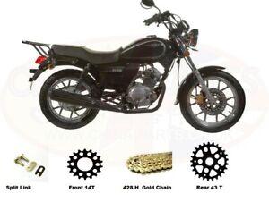 Sinnis SC125 Custom Heavy Duty Chain & Sprockets Set GOLD