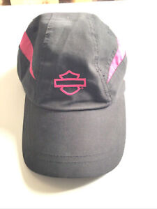 Harley Davidson One Size Strapback Black Pink  Hat Womens