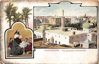 POSTCARD  EGYPT   ALEXANDRIE  -  GENERAL  VIEW