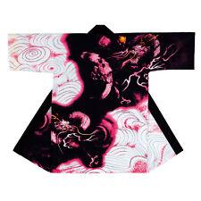 NEW Japanese Traditional Festival Coat HAPPI Pink Dragon Kimono Room wear JAPAN