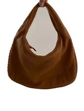 Vintage Brown Leather Bottega Veneta Hobo Shoulder Bag