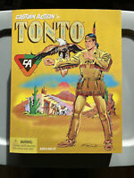 """PLAYING MANTIS 1998 CAPTAIN ACTION THE LONG RANGER TONTO 12"""" FIGURE INCLUDED"""