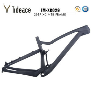 T800 Carbon XC Full Suspension Mountain Bike Frames 165*38mm 31.6mm MTB Bicycle