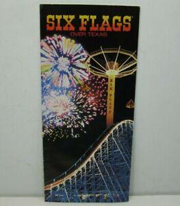 1980 Souvenir Color Brochure Six Flags Over Texas Amusement Park Advertising