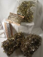 Vintage Christmas Silver & Gold Garland Lot