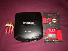 VINTAGE SONY DISCMAN D-131 personal CD PLAYER with batteries, and headphones