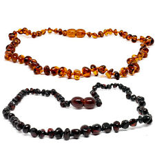 Genuine Baltic Amber Necklaces - MINI BEADS Knotted 2 Colours