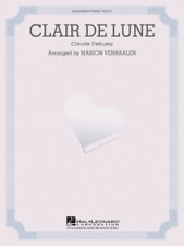 """DEBUSSY """"Claire De Lune"""" SIMPLIFIED PIANO SOLO SHEET MUSIC-BRAND NEW ON SALE!!"""