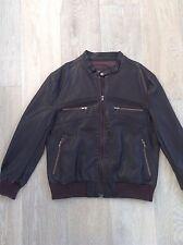 Unbranded Leather Basic Coats & Jackets for Men