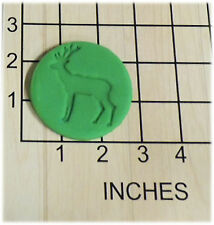 Deer Silhouette Fondant Cookie Cutter and Stamp #1324