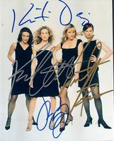 SEX AND THE CITY SIGNED BY ALL 4 CAST MEMBERS 8X10 COLOR PHOTO