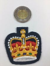 Canadian Air Force Blue Warrant Officer St. Edwards Crown  Patch Insignia