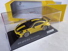 Spark 1/43 Porsche 911 GT2 RS 991 Weissach Package yellow carbon OVP 0855 / 1911