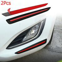 Front/Rear Car Bumper Sticker Carbon Fiber Corner Guard Scratch Protector