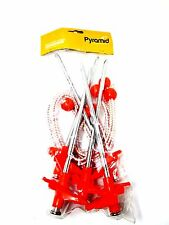 Pack of 5 Pyramid Plastic TENSION awning tent fishing bivvi peg pegs (5) A7697