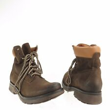 Womens Steve Madden Parley Shoes Dark Brown Leather Ankle Combat Boot Sz 7 M NEW