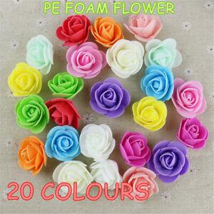 100/200/500 Foam Roses Flower Wedding Craft Party Decoration Favour 3cm