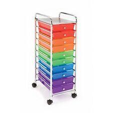 Organizer 10 Drawer Rolling Scrapbook Office School Tools Storage Cart Seville