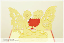 3D Greeting Card Anniversary Cupid and Love Heart Dispatched from Australia