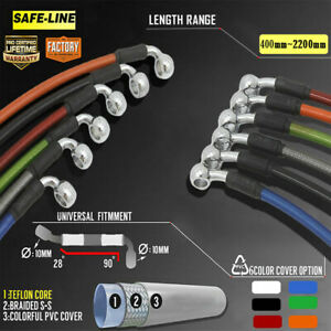 300mm-2000mm Motorcycle Brake Clutch Oil Hose Line Pipes Braided Stainless Steel