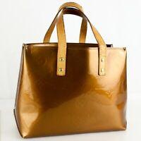 LOUIS VUITTON READE PM Hand Bag Purse Monogram Vernis Leather M91146 Bronze