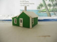 N scale House cabin cottage assembled & painted green laser cut balsa wood used