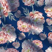 """Diy Bastelbedarf von 1 Yard Floral Baumwollgewebe für Kleid Hochzeit 44 """"breit"""