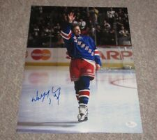 *Goodbye Waive* Wayne Gretzky Signed NY Rangers Final Game 11x14 Photo JSA COA