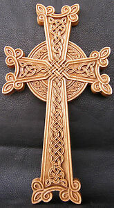 """Armenian Cross - Wooden Orthodox  religious Carved Crucifix крест (16"""" x 9"""")"""