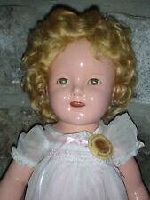 Vintage Ideal Composition Shirley Temple Doll 18' 1930's Compo Tin Sleep Eyes