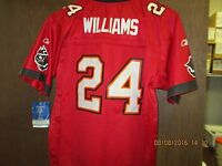 "NFL-TAMPA BAY BUCCANEERS- YOUTH RED MESH ""ON FIELD"" JERSEY #24 WILLIAMS-[TB103]"
