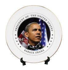 "Beautiful Barack Obama 44th President Plates 10"" Gold Trim Sale!"