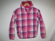 The North Face 550 Fill Down Insulated Jacket Girls S 7/8 Pink Reversible Winter