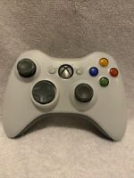 Official Microsoft Xbox 360 White Wireless Controller Genuine  OEM TESTED