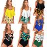 Women's High Waist Ruffle Floral Bikini Swimwear Swimsuit Beach Summer Tankini