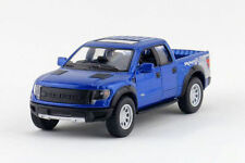 "5"" Kinsmart 2013 Ford F-150 SVT Raptor SuperCrew 1:46 Diecast Model Truck- Blue"