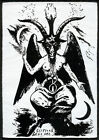 Goat of Mendes Patch White Satan Occult Pagan Witch Heavy Metal Goat The Devil