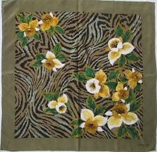 TORRENTE   foulard 100% soie  en TBEG vintage  87 x 91 cm